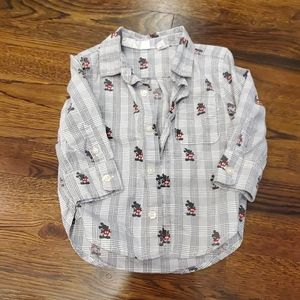 Toddler Boys Mickey Mouse Dress Shirt